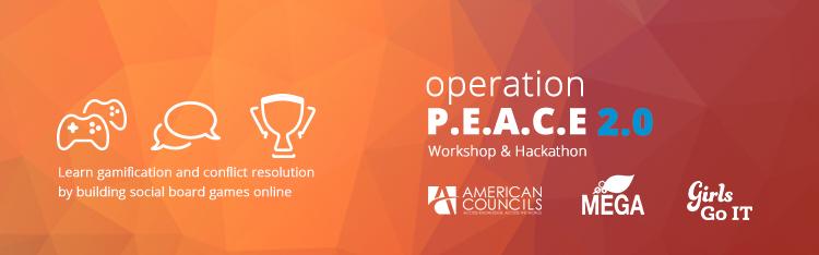 Create Your Game at Operation P.E.A.C.E. 2.0!